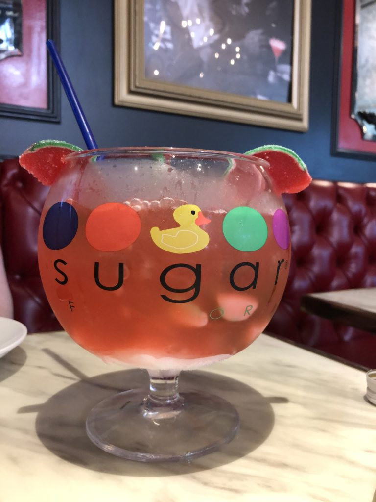 Sugar Factory Fish Bowl Top 5 things to do in Las Vegas | Head to The Strip for the best adventures in Sin City | Travel Guide & Travel Tips | The Social Media Virgin - Mature Luxury Lifestyle Blog
